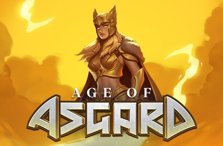 Age of Asgard slot logo to play for free.
