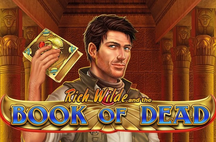 Logo of the popular Book of Dead, a digital slot machine whose free demo you can play for free on playamo.net