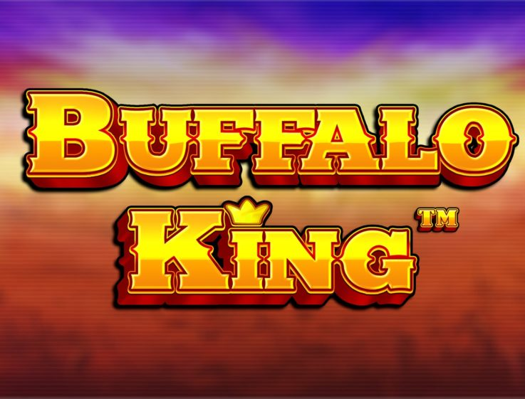 The logo of Buffalo King, a wildlife-themed slot that can be played for free on playamo.net