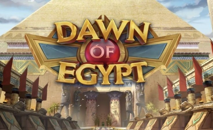 Logo of Dawn of Egypt, a slot machine the free demo of which you can play for free on playamo.net