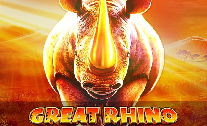 Logo of Great Rhino, a slot machine from Pragmatic Play the free demo of which can be played on playamo.net