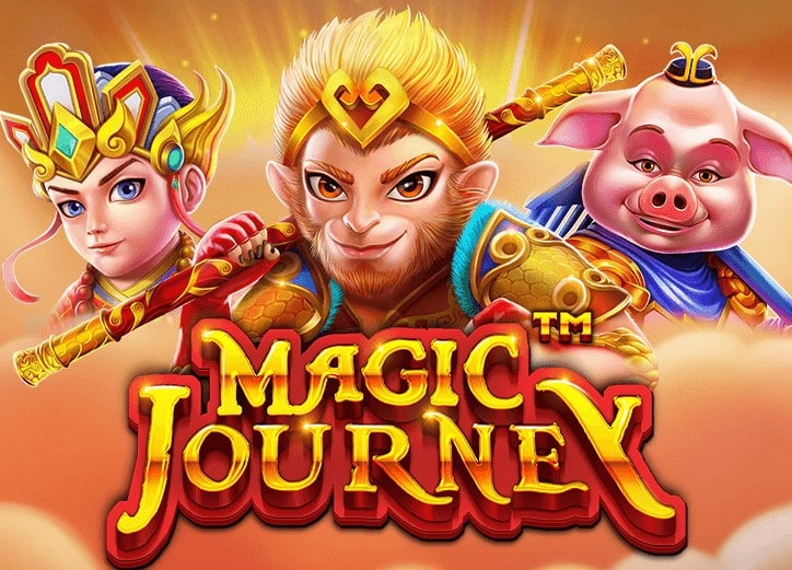 The logo of Magic Journey, a Chinese-themed slot machine whose free demo version can be played for free on playamo.net