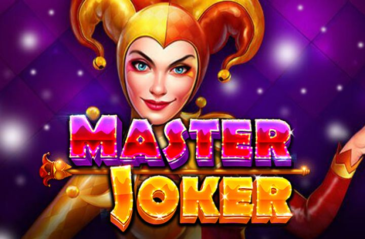 The logo and mascot of Pragmatic Play's Master Joker, a slot machine that can be played for free on playamo.net