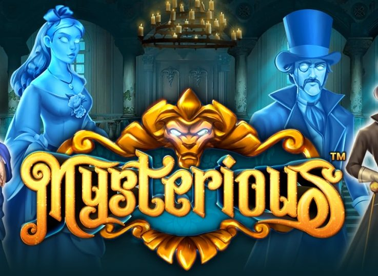 The logo of Mysterious, a Gothic horror slot that is available for free on playamo.net