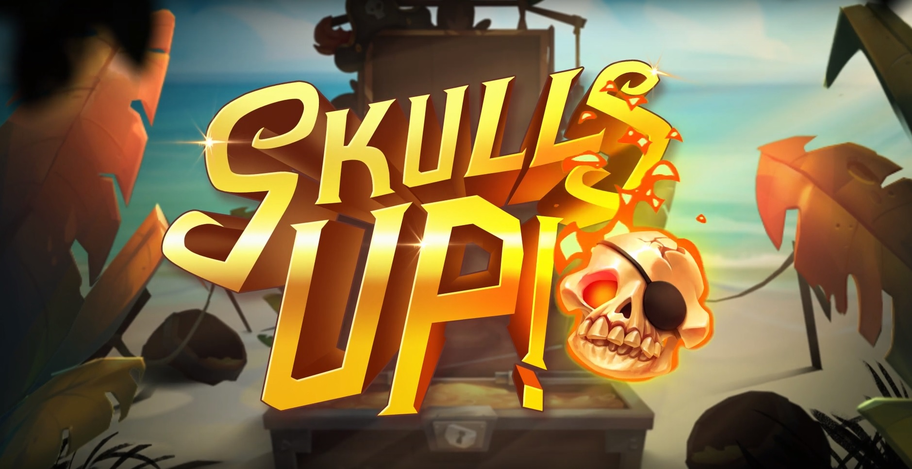 Logo of Skulls UP, a pirate-themed slot machine the free demo of which can be played on playamo.net